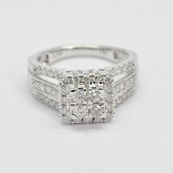 18kt White Gold With Natural Diamonds Bridal Ring R6050