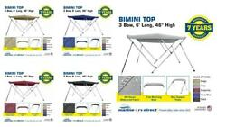 Deluxe 4 Seasons Brand Bimini Top Boat Cover 3 Bow 6andrsquo Long