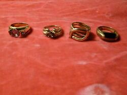 4 Sterling Silver And Semi Precious Stone Rings Approx. Size 9