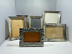 Set Of 6 Sterling Silver Frames, All For One Money