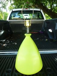 Large 70's Bulbous Psychedelic Lime Green Table Lamp