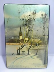 Superb Signed Beautifully Painted Scenic Russian Lacquer Box