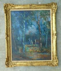 Amazing Early 20th C French Post Impressionist Style Painting Without Signature