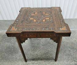 Late 19th Century Middle Eastern / Moroccan Inlaid Gaming Backgammon Table