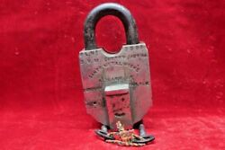 Brass Lock And Key Old Vintage Antique Home Decor Collectible Bf-39
