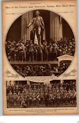 1917 Rotogravure Picture Wwi Us Troops Liberty Loan Campaign Washington Statue