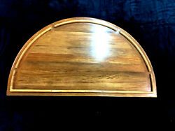36 By 41 Solid Teak Round Flip Out Yacht/boat/rv Table High Gloss Finish