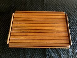 16 By 25 Yacht/boat/rv Burmeseteaktable With Natural /oiled Finish And Fiddle