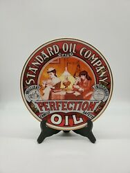 Standard Oil Co.perfection Oil Porcelain Plate 1984 Amoco Collectibles Rare