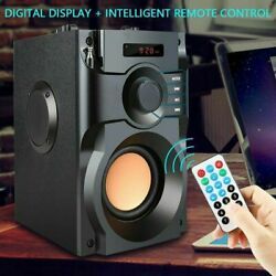 Wireless Outdoor Speaker Large Bluetooth Loud With Bass Subwoofer Heavy Indoor