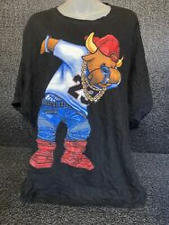 3forty Collection Solid Bulls 23 Hip Hop Bling Tshirt Sz 3xl