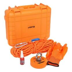 1100lbs Fishing Big Magnet Kit Pulling Force Strong Neodymium Or 20m Rope Gloves