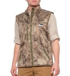 Banded Atchafalaya Hunting Vest Wind Proof Fleece Lined Natural Gear Camo Small