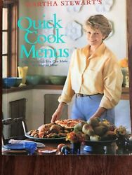 Autographed Quick Cook Menus 52 Meals You Can Make In Under An Hr Martha Stewart