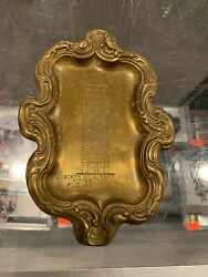 1875-1911 Annex Colonial Hotel Pittsburgh Pa Pressed Brass Tip Tray Rare Pb