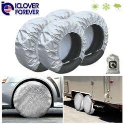 Waterproof Tire Covers Set Of 4 Wheelandtyre Rv Trailer Camper Sun Protector 28and039and039