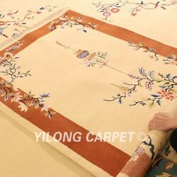 Yilong 4'x6' Living Room Hand Craft Wool Carpet China Art Deco Hand Knotted Rugs