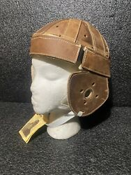 Past Time Sports Leather Helmet Replica 1915-1920s Dog Ear Soft Leather Football