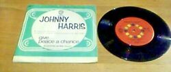 Johnny Harris Give Peace A Chance B/w Footprints On The Moon Swe Ps Funk 45 7