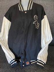 Jh Design Chicago White Sox Champions Striped Sleeve Reversible Jacket Sz 4xl