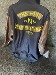 Crooks And Castles Leather Embroidered Jacket Andldquothe Foul N Flagrant Andldquo Sz 2xl