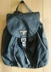 Prada Backpack Quilted Leather Small MILANO Used Tag 7 $171.15