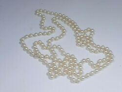 Best Quality 62 Inch Long Strand 7mm Pearl Necklace With Good Luster