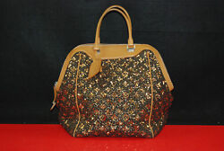 Lv Louis Vuitton Limited Edition Gold Monogram Sunshine Express North-south Bag