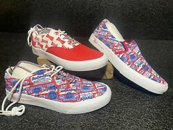 Alife X Budweiser Laceup Red White King Of Beers Shoe Sneakers Rare