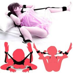 Restraints Kit Wrist Thigh Leg Restraint System Hand Ankle Cuff Bed Sex Play Toy $10.99