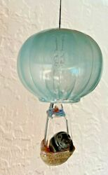 720 Glassworks Signed And Dated Blown Glass Balloon And Manatee Bell Ornament