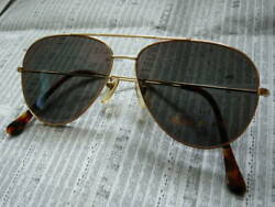 K18 18-Karat Gold Golden Scale Rubiant Ruby Sunglasses Antique Search Ray Ban