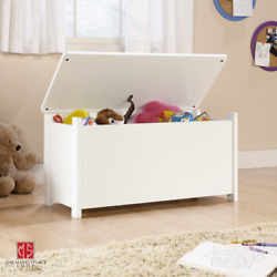 Toy Storage Box Chest Bin WHITE Large Organizer Kids Bedroom Furniture Playroom