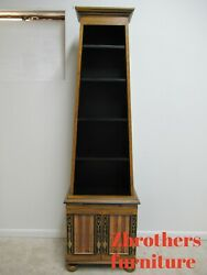 Ardley Hall Italian Regency Paint Decorated Open Book Shelf Curio Cabinet  A