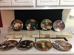 Lot Bundle Set Of 8 Norman Rockwell Collectible Plates Knowles Bradford Exchange