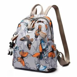 New Waterproof Butterfly Print Backpack Women Small School Bag For Lady Bookbag $33.58
