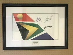 South African Open 2004 Signed Pin Flag - Immelman, Montgomerie, Westwood 26x18