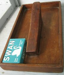 Antique Wooden Scouring/scrub Box Small Square Nails Fabulous Patina