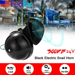 Super Loud 300 db 24V Snail Air Horn For Car Truck Boat Motorcycle Train US Ship