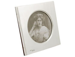 Edwardian Hallmarked Sterling Silver Photo Frame By Mappin And Webb Ltd 1900s