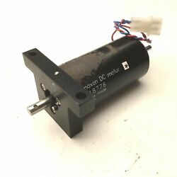Maxon 118776 Dc Motor Graphite Brushes Swiss Made 6mm And 4mm Shafts