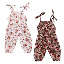 Floral Toddler Infant Baby Girl Romper Jumpsuit Playsuit Sunsuit Outfits Clothes $6.99