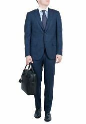 Isaia Blue Men Suit Wool Comfortable Fit Luxurious Style Official Look Brand