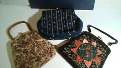 Vintage Purse Handcrafted Veldore Of Houston 1950s 3 Purse Lot