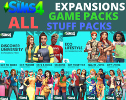 ⭐️ The Sims 4 ALL Expansions GAME amp; STUFF packs Origin Account PC amp; Mac