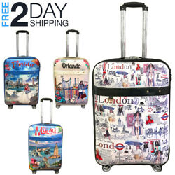 Luggage 25andrdquo Suitcase Trolley Wheeled Spinner Travel Set Bag Lightweight Suitcase