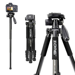 ZOMEI Light Weight Aluminum Tripod Monopod Travel For Canon Nikon DSLR Camera $38.99