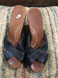 Gentle Souls Kenneth Cole Cupids Heart Shoes Women's 8 Black Leather Wedge