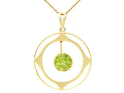 Antique 1910's 1.83ct Peridot And 15carat Yellow Gold Pendant 18