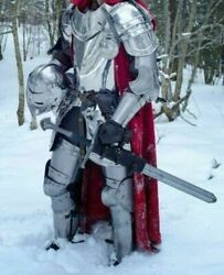 Medieval Knight Wearable Full Suit Of Armor- Larp Custom Size Halloween Costume